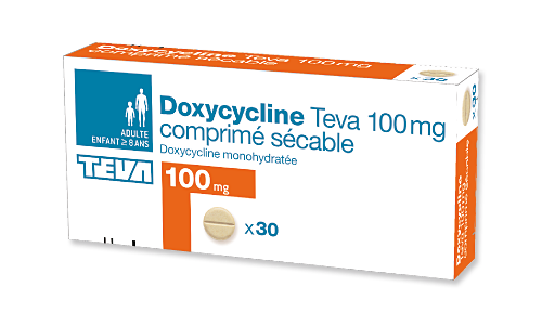 DOXYCYCLINE TEVA 100 mg-bte de 30