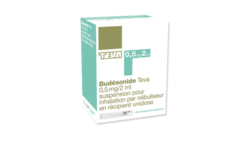 BUDESONIDE TEVA 0.5 mg-2 ml-bte de 20
